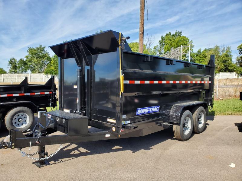 2021 Sure-trac 7'x14' Lp High Side Tele Dump 14k Dump Trailer