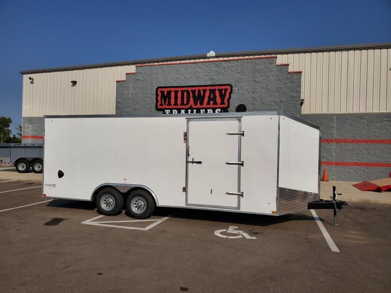 2021 Stealth 8.5'x20' 10k White Enclosed Trailer