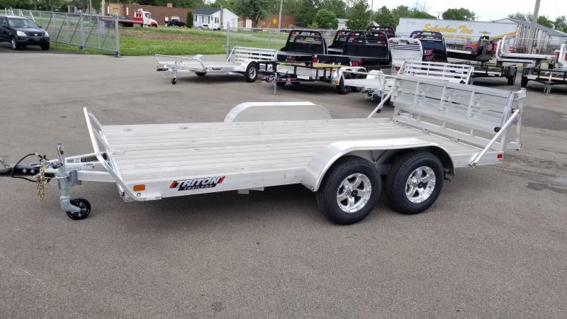2021 Triton 7'x14' Alum 3k Wood Deck Utility Trailer