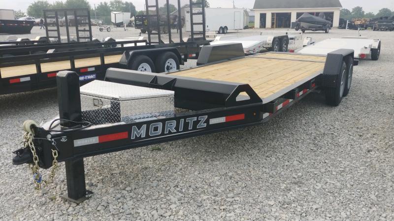 2021 Moritz International 7'X20' HT 16K HYDRAULIC TAIL/JACK Equipment Trailer
