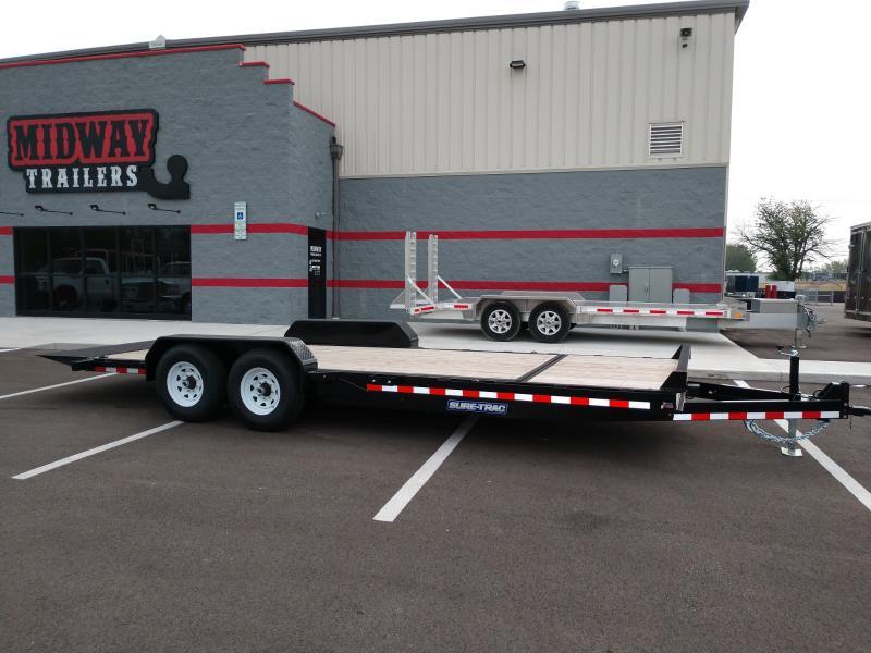 2021 Sure-trac 7'x18'+4 Tilt Bed Equip 14k Equipment Trailer