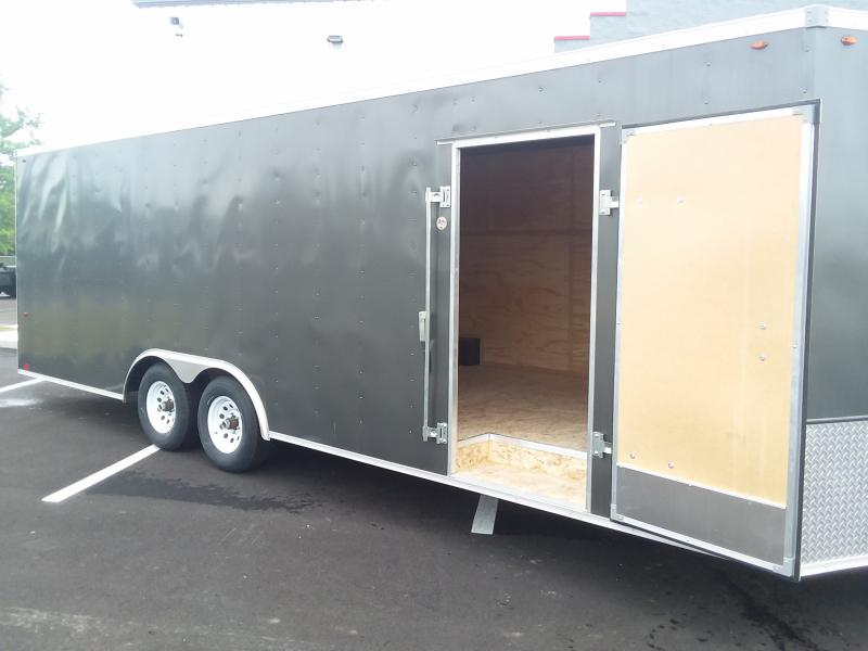 """2022 Interstate 8.5'X24'+6"""" 10K CHARCOAL Cargo / Enclosed Trailer"""