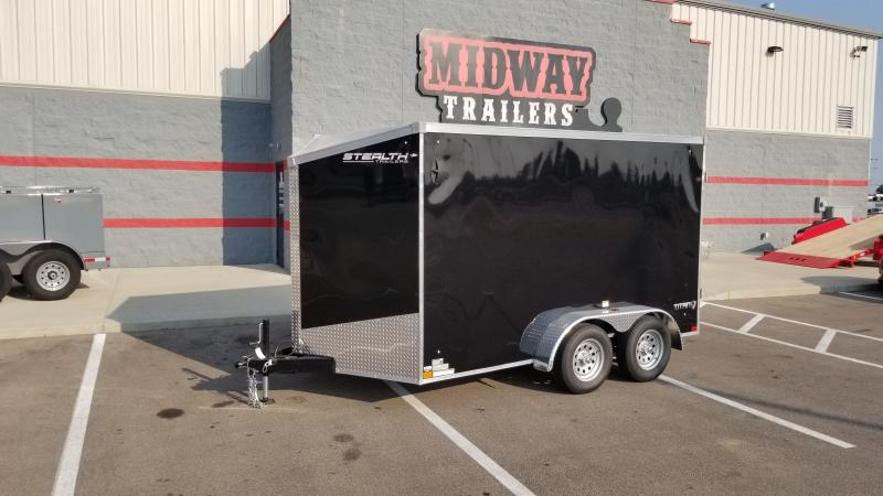 2022 Stealth Trailers 7'X12' 7K BLACK Cargo / Enclosed Trailer