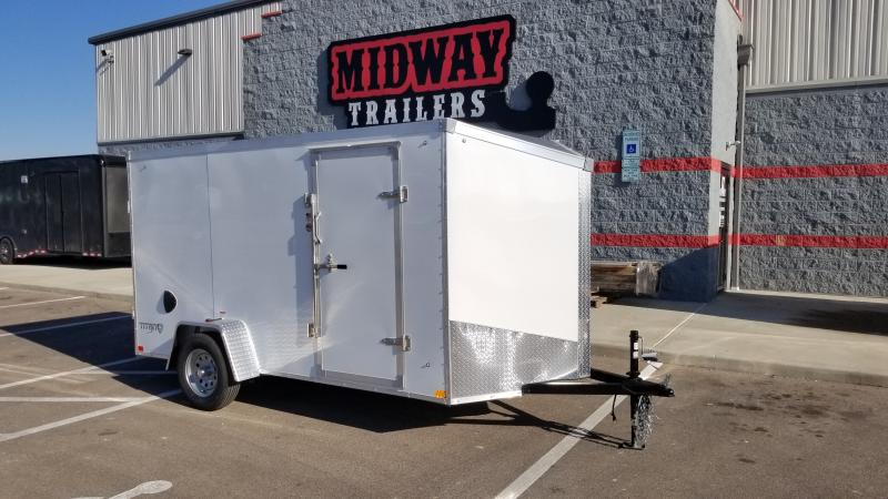 2022 Stealth 6'x12' 3k White Enclosed Trailer