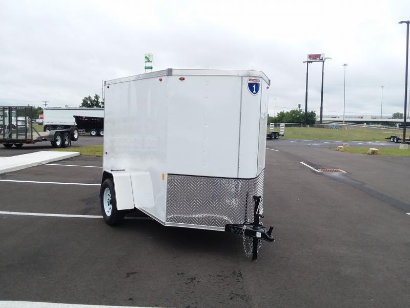 2021 Interstate 5'x8' White 3k Enclosed Trailer