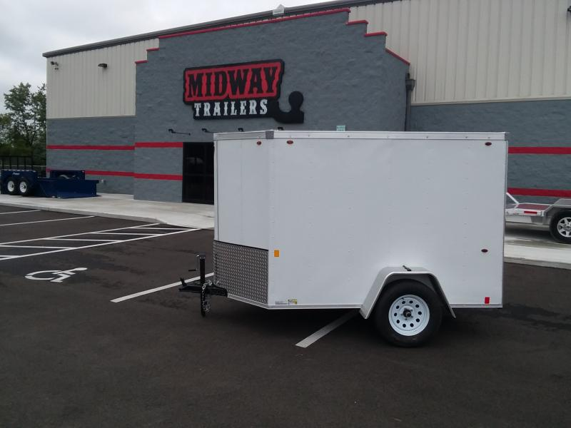 2021 Interstate 5'x8' White 3k Enclosed Trailer