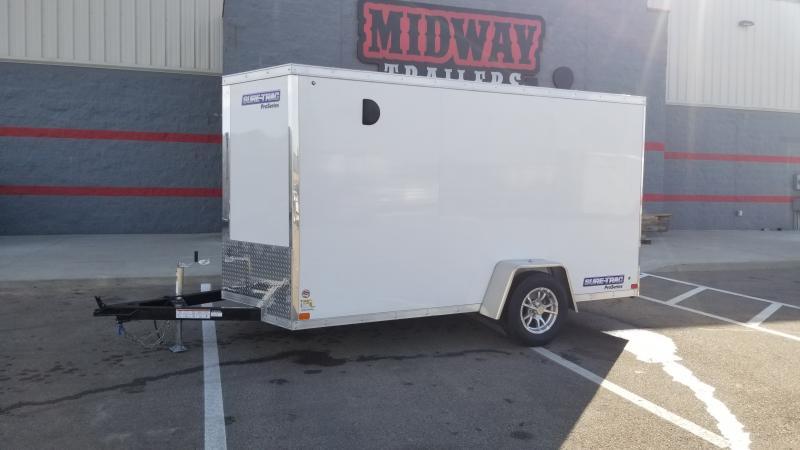 2022 Sure-Trac 6'X12' 3K WHITE BARN DOORS Cargo / Enclosed Trailer
