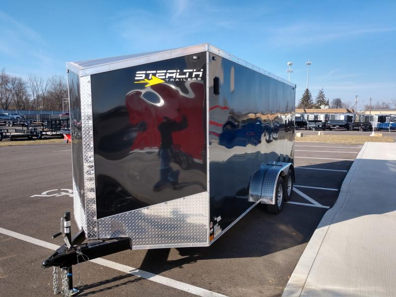 2021 Stealth 7'x16' Titan 7k Black Enclosed Trailer