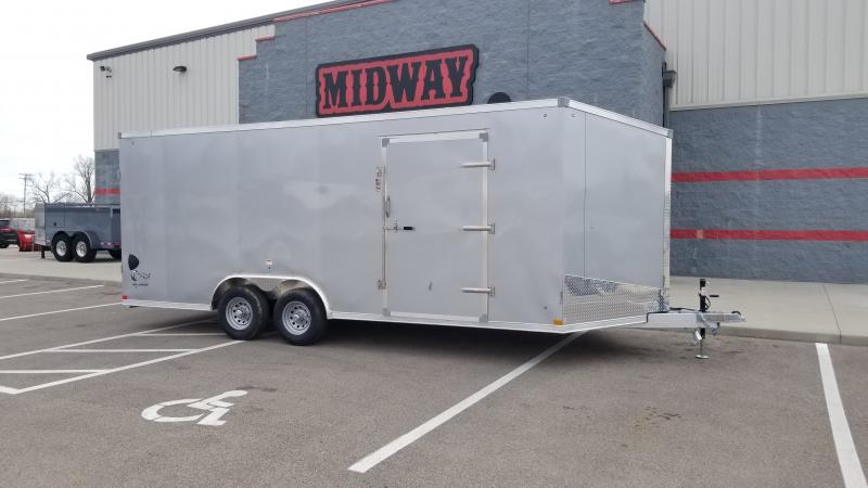 "2022 Stealth 8.5'x20'+6"" Cobra Silver 10k Enclosed Trailer"