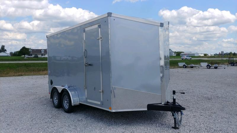2021 Stealth 7x14 Titan 7k Silver Enclosed Trailer