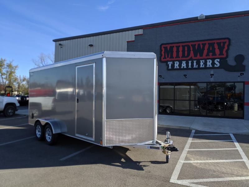 2020 Triton 7'x16' Alum 7k Pewter Enclosed Trailer
