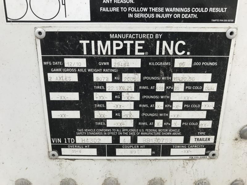2011 Timpte 43' Hopper Trailer Hopper Trailer