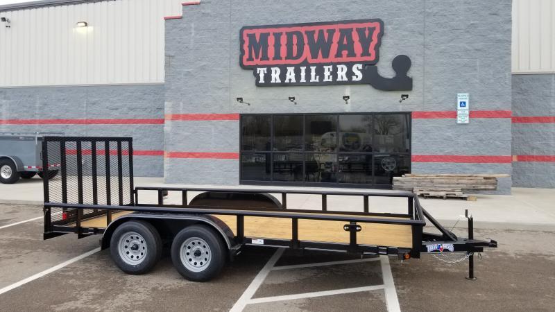 2021 Texas Bragg Trailers 7'X16' 7K PIPE TOP Utility Trailer