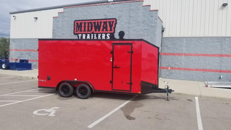 2022 Stealth Trailers 7'X16' 7K RED / BLACKOUT Cargo / Enclosed Trailer