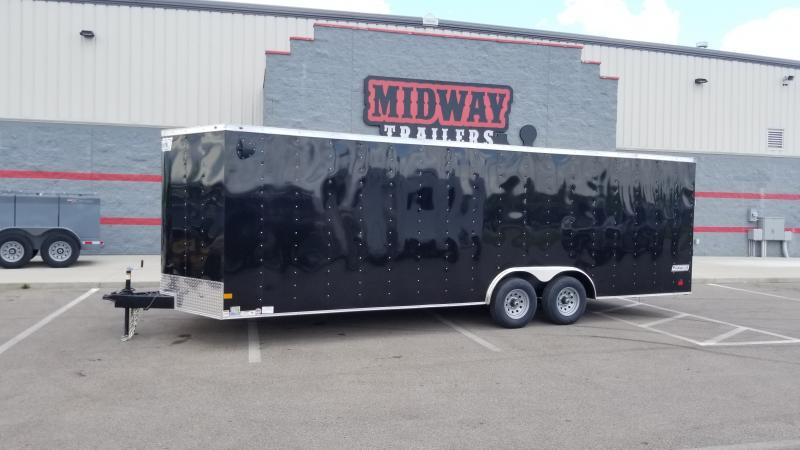"2021 Haulmark 8.5'x24'+6"" 10k Black Enclosed Trailer"
