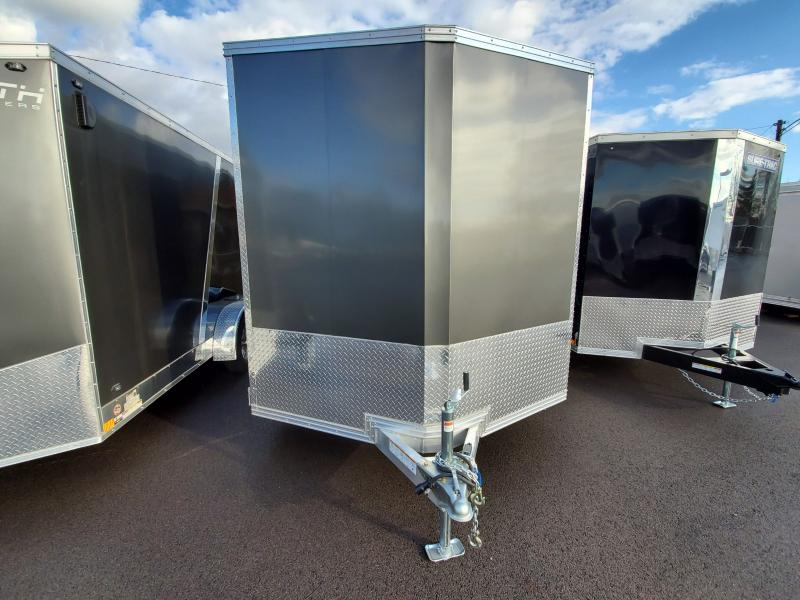 2019 Ez Hauler 7.5'x16' Alum 7k Charcoal Enclosed Trailer
