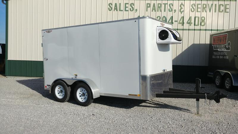 2018 H&h Trailers 6x12 Refrigerated 7k White Enclosed Trailer