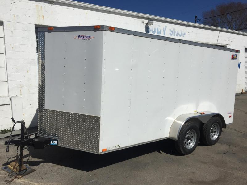 2016 Freedom Trailers 7'x14' Wide Enclosed Cargo Trailer