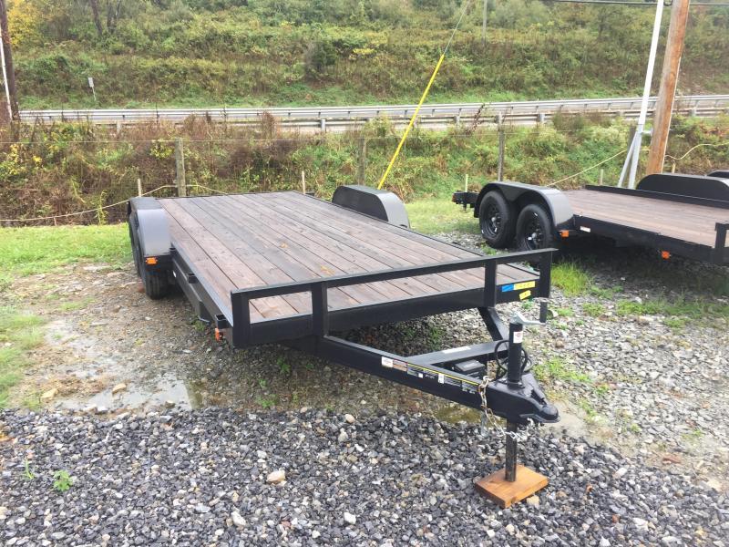 2021 Carry-On 7X18APFTSR1BRK Equipment Trailer