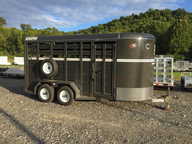 2021 CornPro Trailers SB-16 7S Livestock Trailer