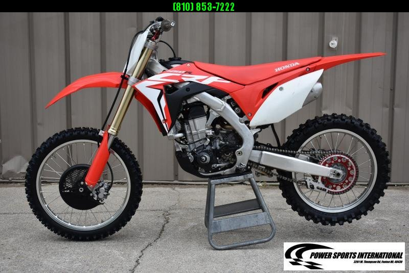 2018 Honda CRF450R Electric Start Fuel Injected MX Motorcycle Like New  #1481