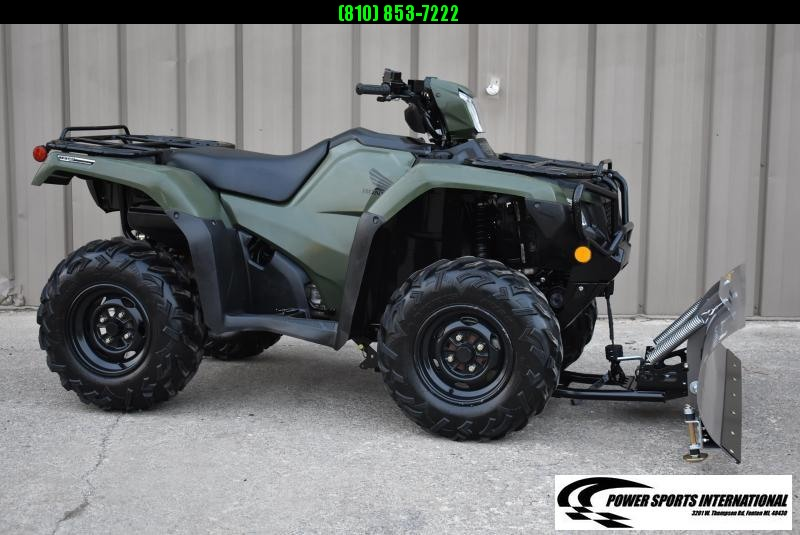 2020 HONDA TRX520FM2 FOURTRAX FOREMAN (4X4 ELECTRIC POWER STEERING) 4X4 ATV  W/ SNOWPLOW PKG #1582