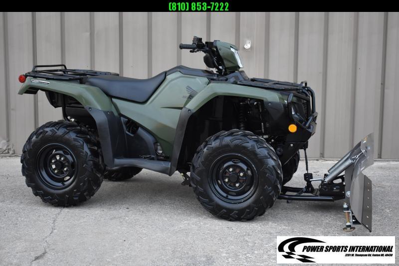 2020 HONDA TRX520FM2 FOURTRAX FOREMAN (4X4 ELECTRIC POWER STEERING) 4X4 ATV  W/ SNOWPLOW PKG #1582