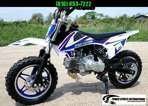 2021 VITACCI DB-S60 YOUTH Dirt Bike BLUE 4-Stroke MX Off Road Motorcycle DIRT BIKE New w/ Warranty