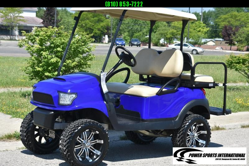 CUSTOM 2018 CLUB CAR PRECEDENT GAS POWERED METALLIC BLUE w/ Thousands in Extras! #9463