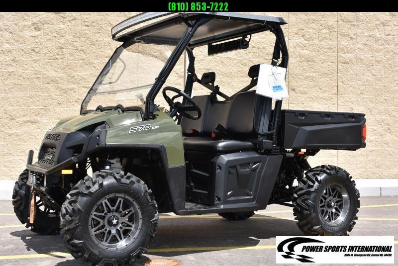 2021 POLARIS RANGER 570 FULL SIZE HUNTER GREEN w/ EXTRAS #5615