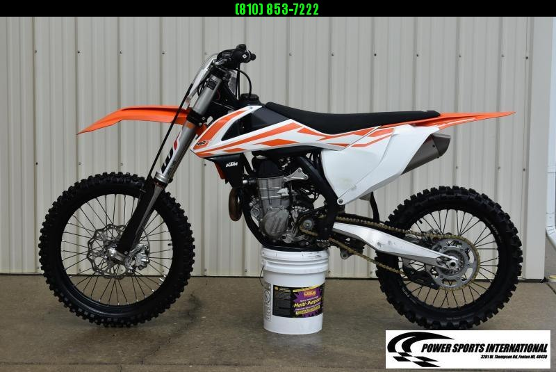 2017 KTM 450 SX-F Electric Start 4-Stroke MX Off Road Motorcycle Only 76hrs #5559