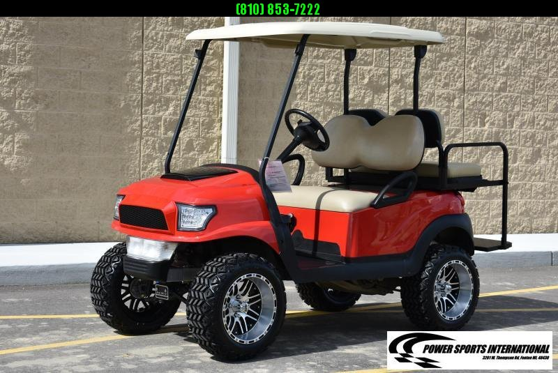 CUSTOM 2018 CLUB CAR PRECEDENT GAS POWERED FIRE ENGINE RED w/ Thousands in Extras! #9998
