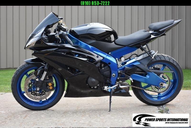 2014 YAMAHA YZF-R6 TEAM YAMAHA R6 Sport Bike Motorcycle Black and Metallic Blue Low Miles #8362