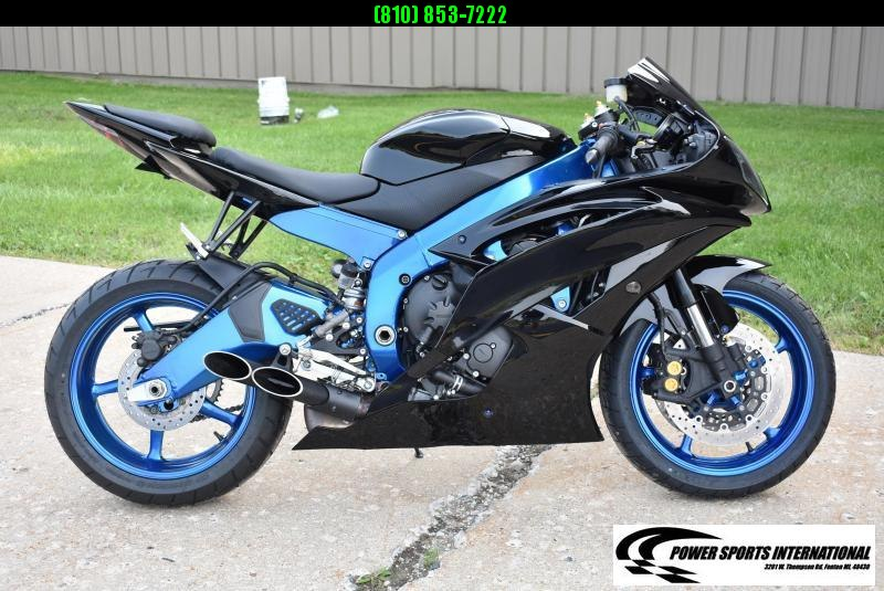 2014 YAMAHA YZF-R6 TEAM YAMAHA R6 Sport Bike Motorcycle Black and Metallic Blue Low Miles #8362