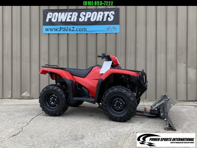 2017 HONDA TRX500FA5H FOURTRAX FOREMAN RUBICON RED  4X4 ATV #0600