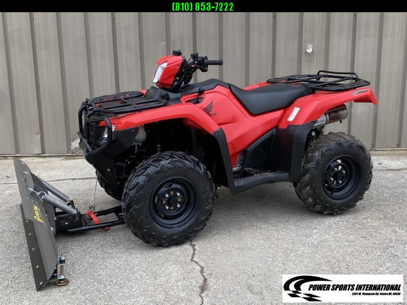 2017 HONDA TRX500FA5H FOURTRAX FOREMAN RUBICON RED  4X4 ATV #0600