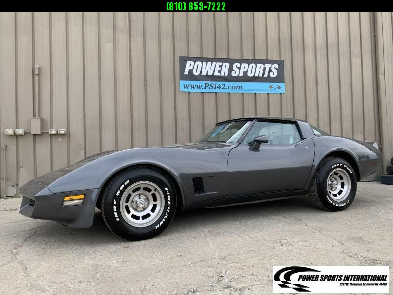 1981 Chevrolet Corvette Sports Car L81 350 C.I. Automatic Transmission T-Top
