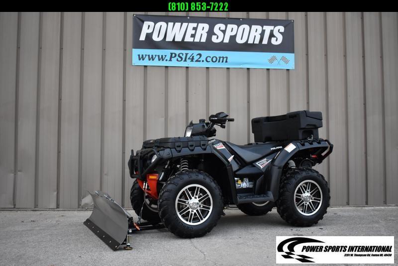 2013 POLARIS SPORTSMAN 550 EPS LE UTILITY ATV w/ SNOWPLOW #6488