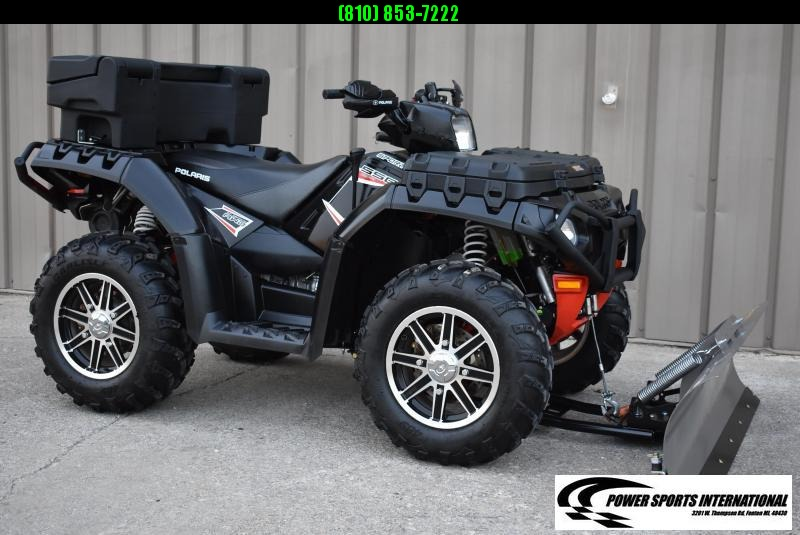 2013 POLARIS SPORTSMAN 550 EPS LE UTILITY ATV w/ SNOWPLOW #6488