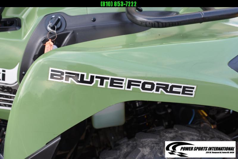 2013 KAWASAKI KVF750JDF BRUTEFORCE 4X4I HUNTER GREEN 4X4 ATV w/ FULL SHOWPLOW PACKAGE #1324