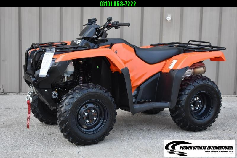 2018 HONDA TRX420FM1 FOURTRAX RANCHER BLAZE ORANGE (4X4) UTILITY ATV #5923
