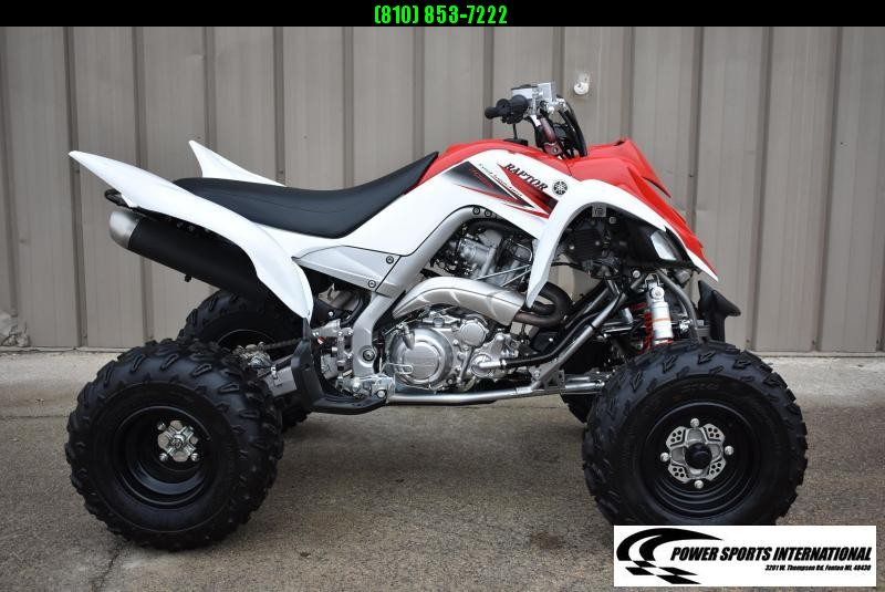 Left Over 2011 Yamaha Raptor 700R Red and White Team Edition Sport ATV Quad #5999
