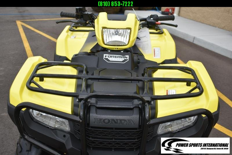 2019 HONDA TRX500FM1 FOURTRAX FOREMAN (4X4) BLAZE YELLOW ATV #2393