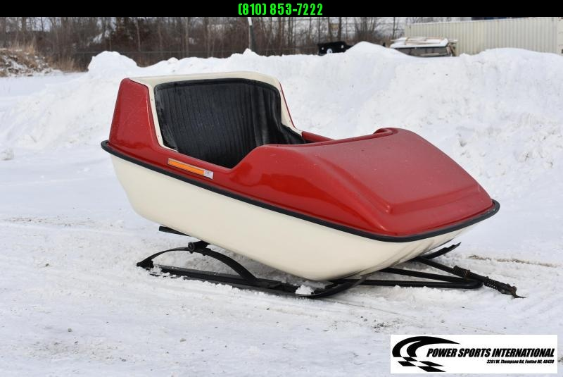 VINTAGE 1970's EXEL PLAY SLEIGH By International Fiberglass LTD 2-Passenger Snowmobile Sled Kids