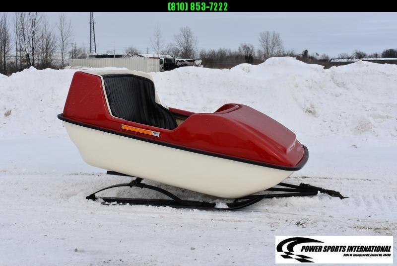 VINTAGE 1970's EXEL PLAY SLEIGH By International Fiberglass LTD 2-Passenger Snowmobile Sled Kids