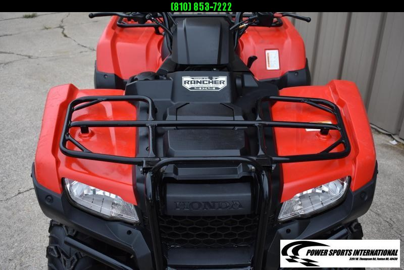 2017 HONDA TRX420FA2H FOURTRAX RANCHER (AUTOMATIC TRANSMISSION ELECTRIC POWER STEERING) RED UTILITY ATV #0202