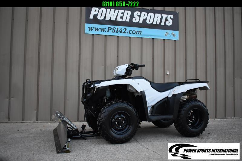 2017 HONDA TRX500FE2H FOURTRAX FOREMAN (ELECTRIC POWER STEERING) 4X4 ATV W/ SNOWPLOW #2265
