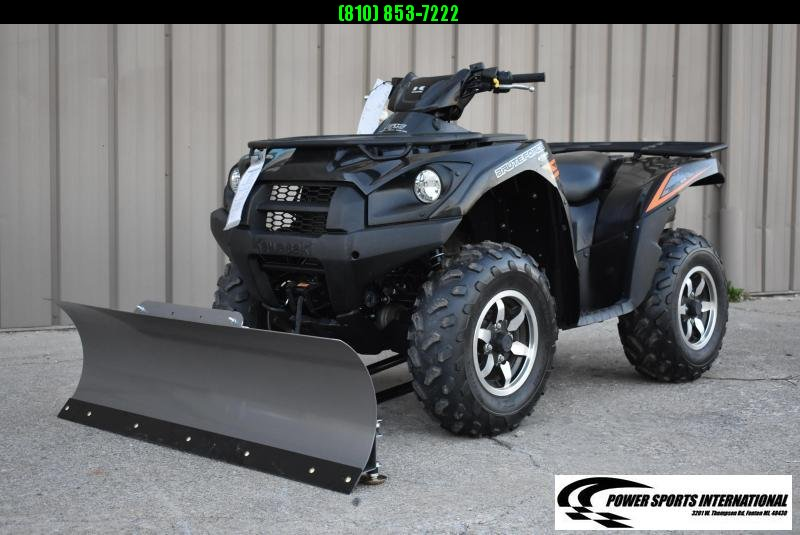 2018 KAWASAKI KVF750GJF BRUTEFORCE EPS (4X4I) Utility ATV w/ KFI SNOWPLOW PACKAGE #4065