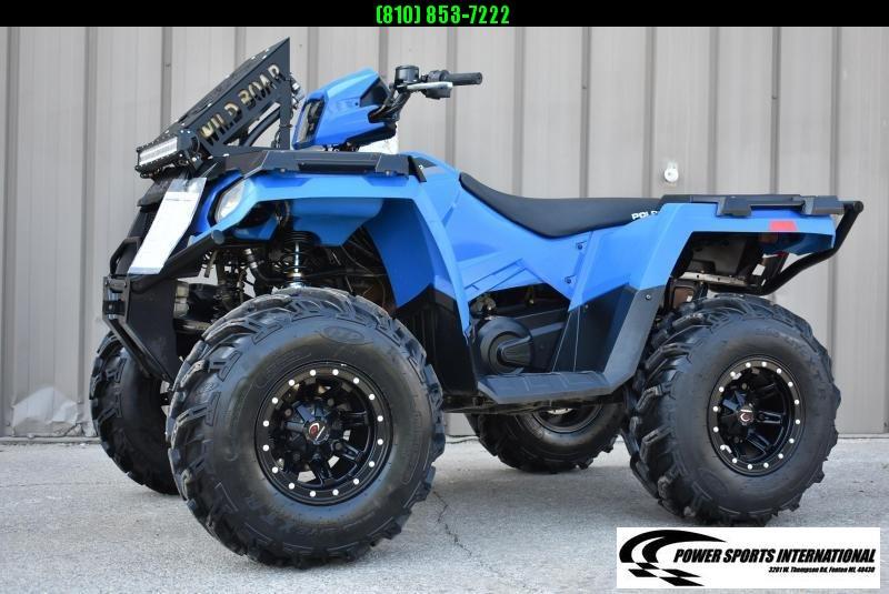 2018 POLARIS SPORTSMAN 450 H.O. BLUE 4X4 ATV #7217