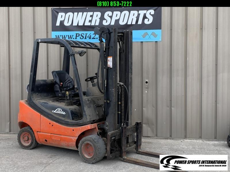 2008 Linde LP Fork Truck 5000# Pneumatic Tire Forklift LP